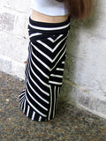 18 Inch Doll Crazy Mixed Up Stripes Maxi Skirt and Cropped Tank Top