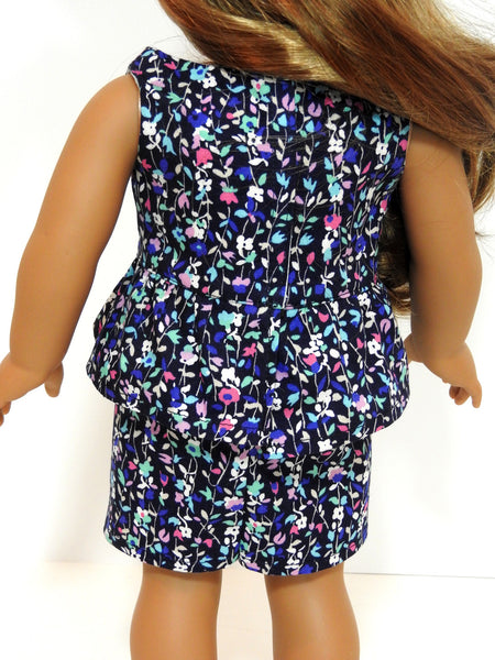 Trendy American Girl Doll Handmade Peplum Dress