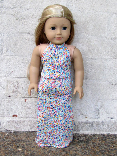 american girl doll maxi dress