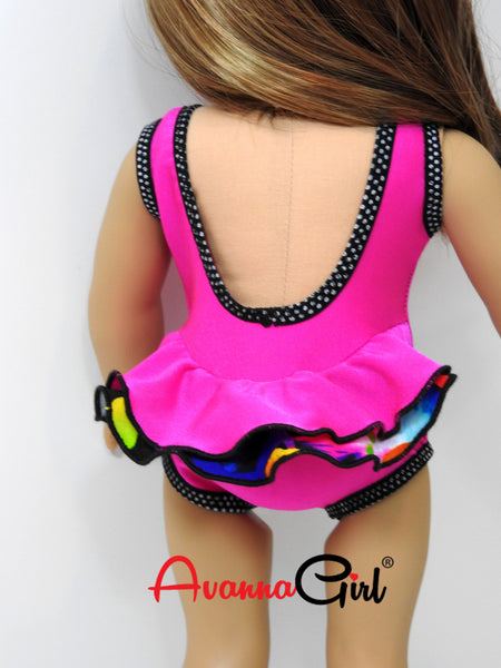 Handmade Retro Swimsuit for American Girl Doll