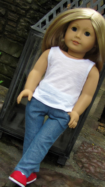 American Girl Doll Tank Top and Skinny Jeans