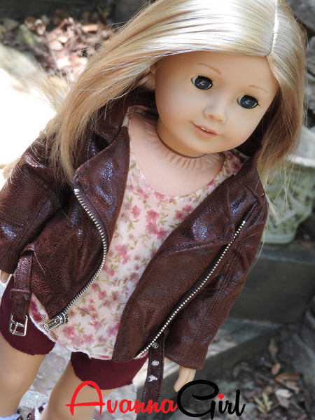 Motorcycle Jacket for American Girl Doll