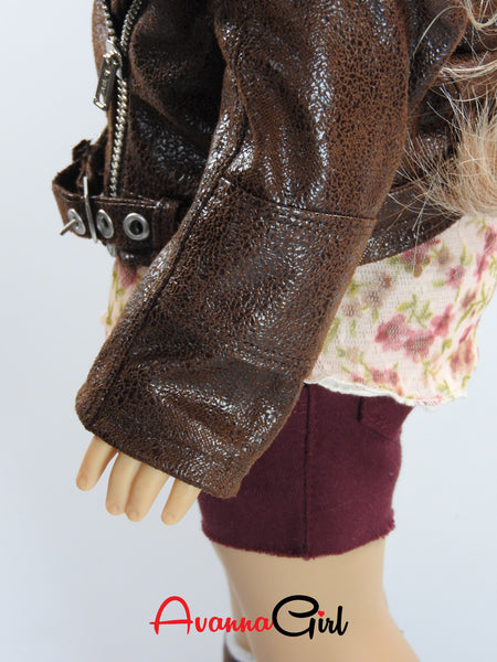 American Girl Doll Handmade Motorcycle Jacket