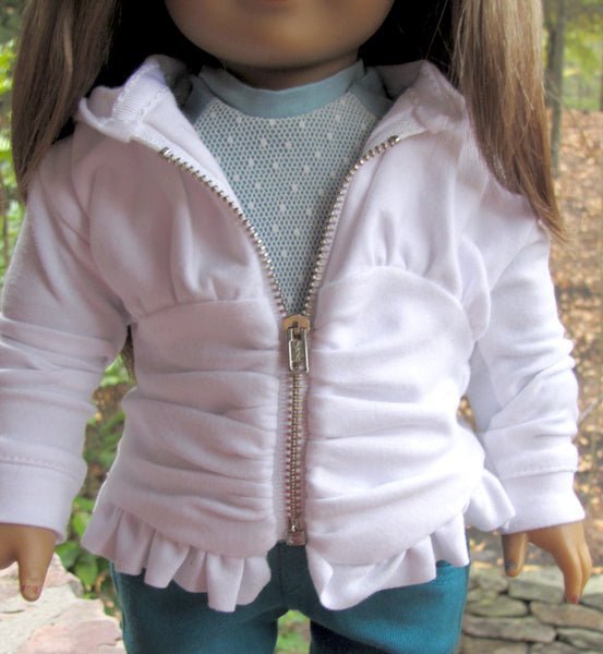 Trendy Outfit, Hoodie, Skinny Jeans, Sweater for American Girl Doll