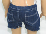 American Girl Doll Handmade Cut-Off Shorts