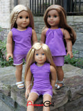 American Girl Doll Handmade Cut-Offs and Tank Top