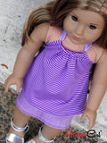 American Girl Doll Handmade Halter Top and Denim Skirt