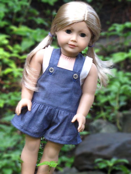 American Girl Doll Handmade Romper/Shortalls and Bodysuit