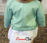 American Girl Doll® Handmade Light Teal Moto Jacket