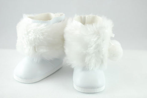 14.5 INCH DOLL Furry Snow Boots fits Wellie Wishers Doll