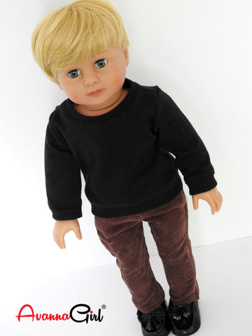 18 Inch Boy Doll Sweatshirt and Corduroy Pants