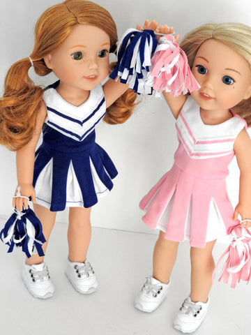 14.5 Inch Doll Cheerleader Uniform fits Wellie Wishers Doll