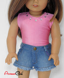 Denim Cut-Off Shorts and Bodysuit for American Girl Doll