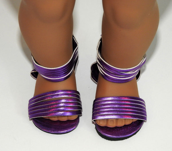 Trendy Hightop Strappy Metallic Sandals