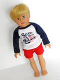 18 Inch Boy Doll Board Shorts and T-Shirt