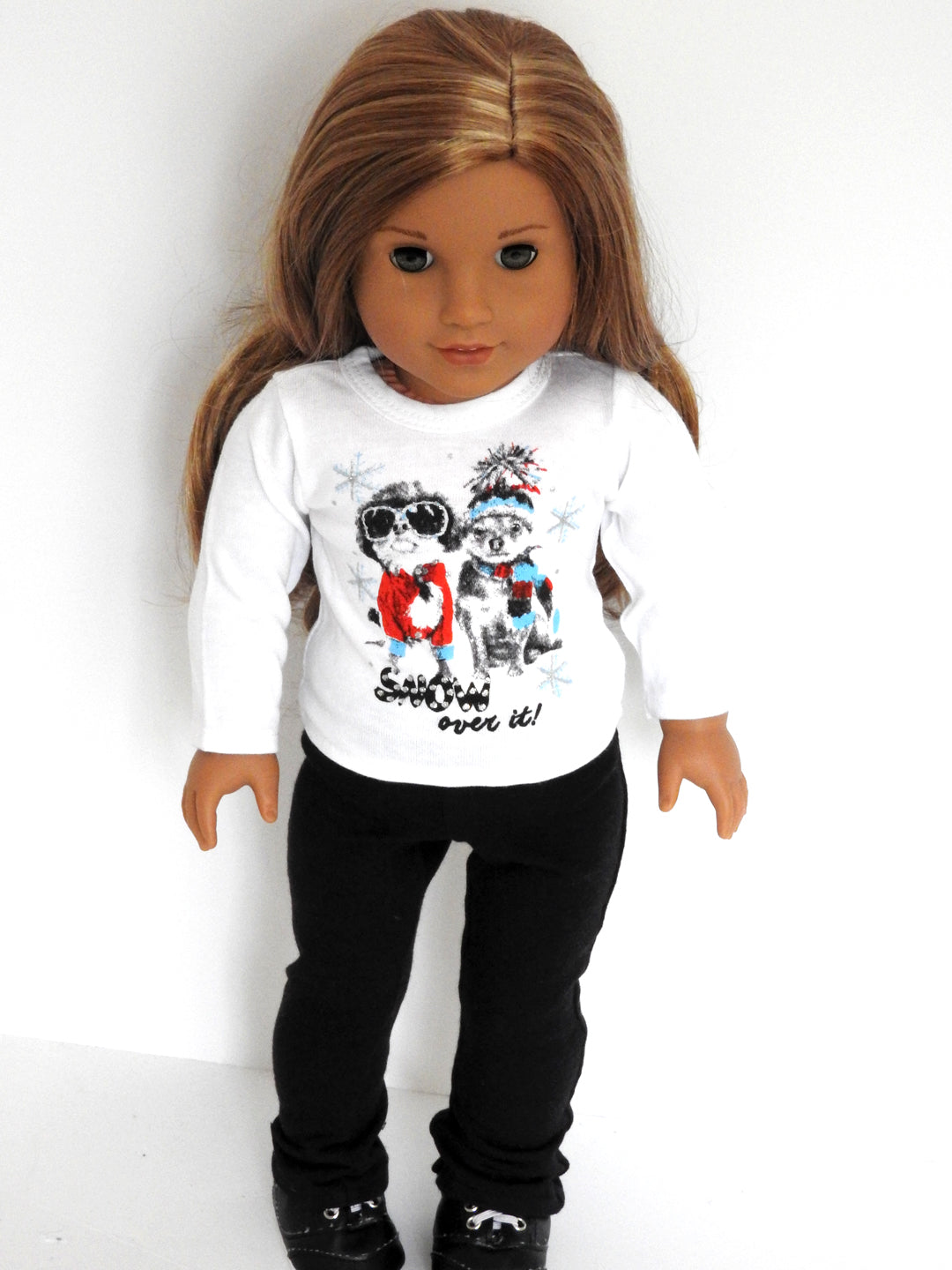 American Girl Doll Plain Graphic T-Shirt and Yoga Pants