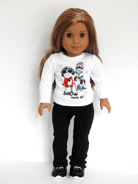18 Inch Doll Graphic T-Shirt and Yoga Pants