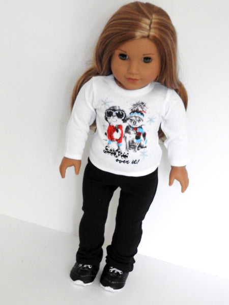 AG Doll Plain Graphic T-Shirt and Yoga Pants