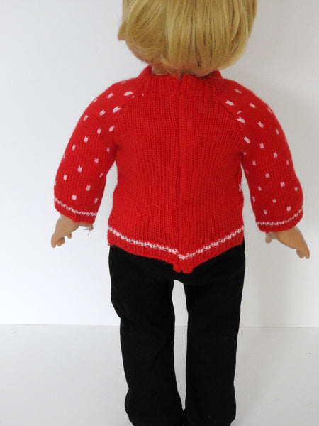 18 Inch Boy Doll Christmas Sweater and Pants