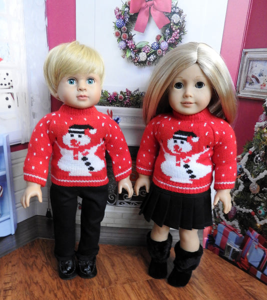 American Girl Doll Christmas Sweater and Pants