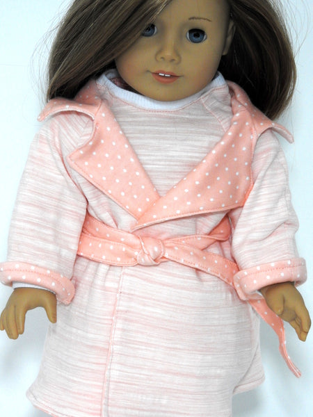 18 Inch Doll Handmade Flannel Pajamas fits American Girl Doll