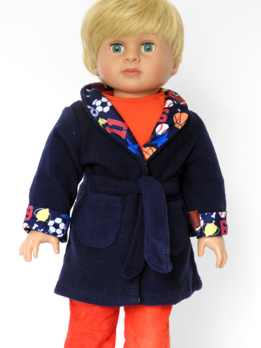18 Inch Boy Doll Pj's, Robe