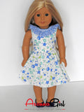 Handmade Floral Print Dress for American Girl Doll