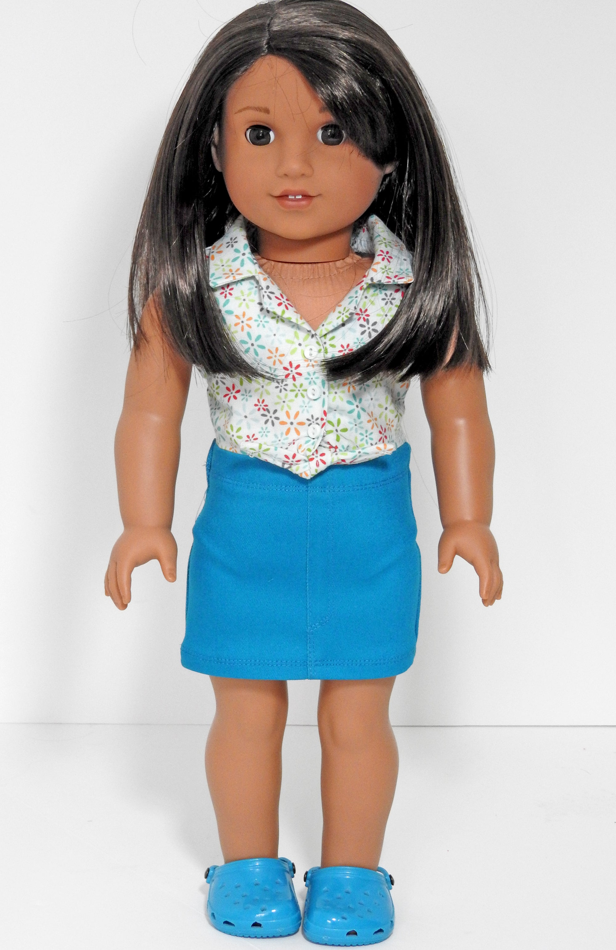 AG Doll Mini Skirt and Tie Blouse