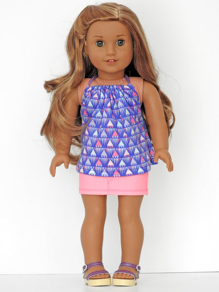 American Girl Doll Mini Skirt and Halter Top