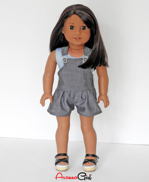 American Girl Doll Handmade Romper,  Bodysuit, Sandals