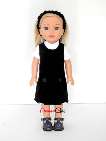 14.5 Inch Doll School Uniform and Shoes fits Wellie Wishers Doll