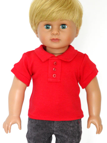 Copy of 18 Inch Boy Doll Polo Shirt and Corduroy Pants