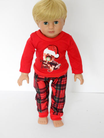 18 Inch Boy Doll Christmas Puppy Pajamas, PJ's