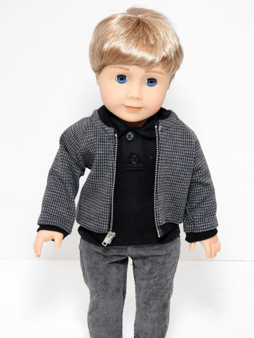 18 Inch Boy Doll Bomber Jacket fits American Boy Doll