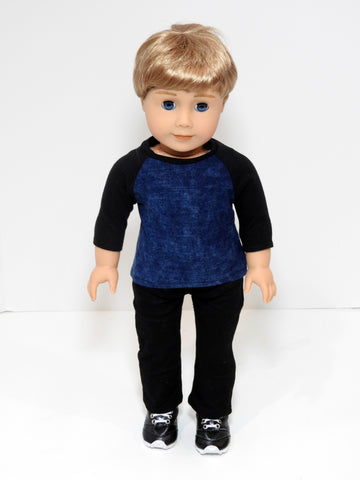 18 Inch Boy Doll Baseball Tee and Pants fits American Boy Doll