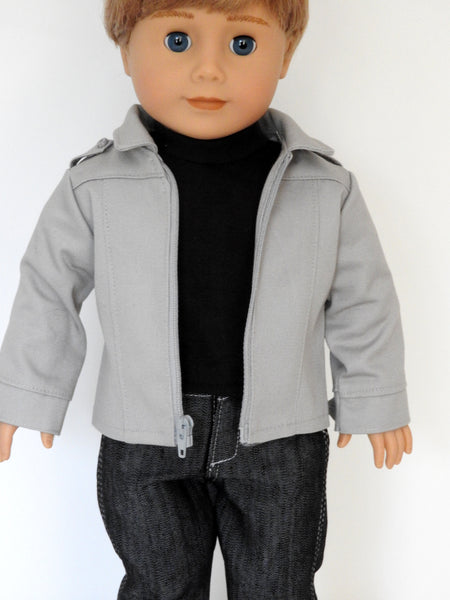 Copy of 18 Inch Boy Doll Jacket, Outfit Shoes