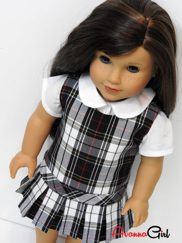 Custom Doll and Me Matching School Uniforms for Girls and American Girl Dolls