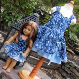 Matching Girl and American Girl Doll Dress