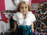 18 Inch Doll Formal Silk Ball Gown and Faux Fur Sleeveless Jacket