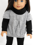 18 Inch Doll Clothes Layered Look Tunic, Leggings, and Boots