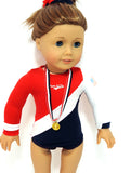 USA Gymnast Uniform for American Girl Doll
