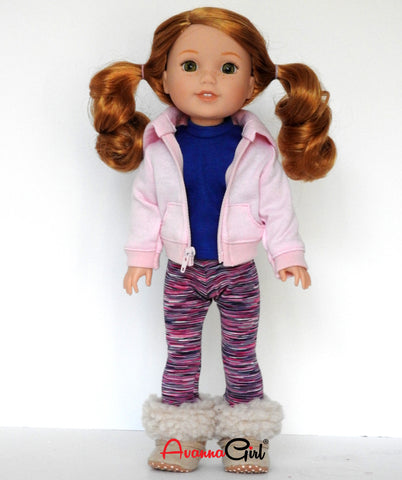 Handmade 14 Inch Doll Hoodie fits Wellie Wishers Dolls