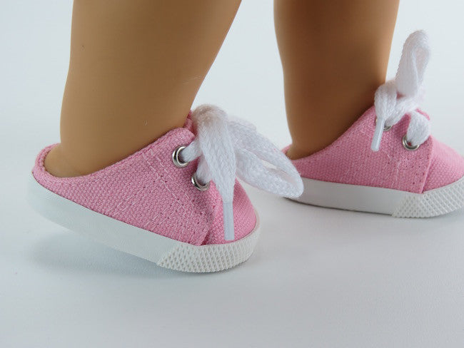 18 Inch Doll Pink Slip On Sneakers