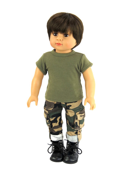 18 Inch Boy Doll Army Outfit