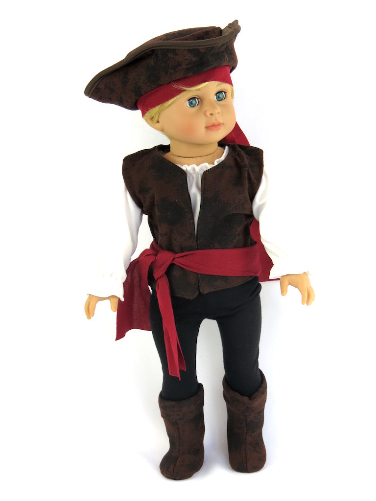18 Inch Boy Doll Halloween Pirate Costume