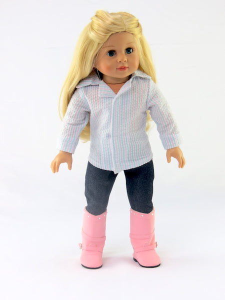 18 Inch Doll Pink Sweater Set