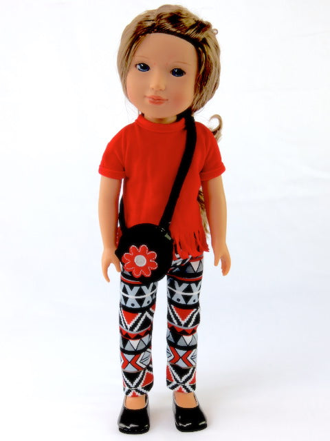 Wellie Wishers Doll Pant Set and Purse