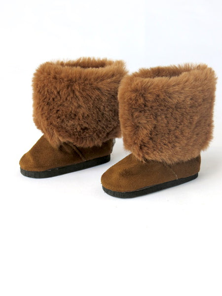 18 Inch Doll Brown Fur Boots
