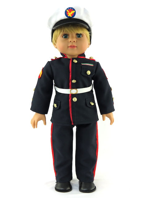 18 Inch Boy Doll Marines Dress Blues