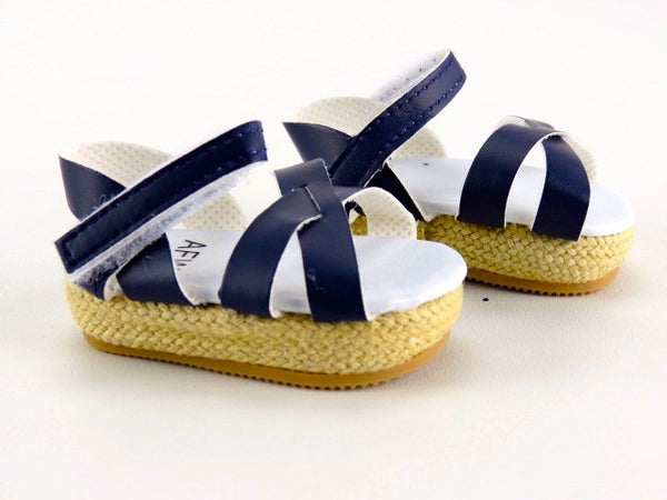 Wedge Espadrille Sandals for American Girl Doll
